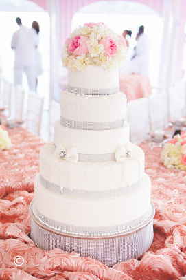 5 layer wedding cake