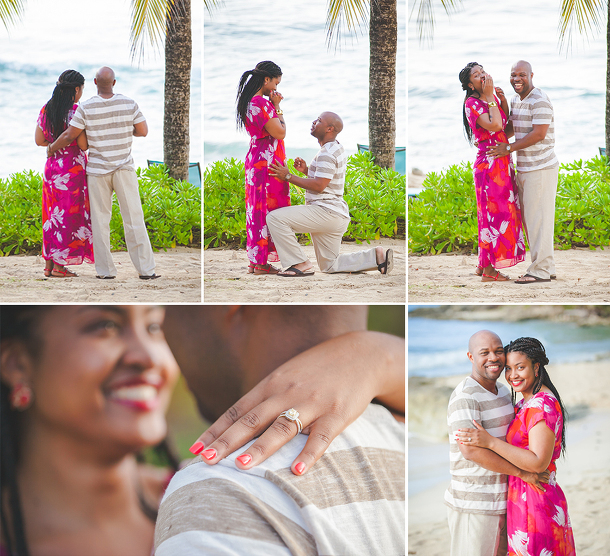surprise proposal collage